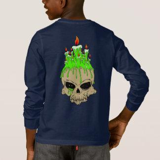 T-shirt de base de la douille des enfants de crâne