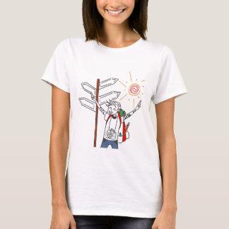 T-shirt de base de voyageur heureux pour des