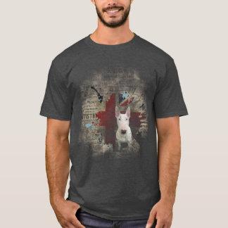 T-shirt de base d'Union Jack de bull-terrier de