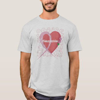 T-shirt de base personnalisable de cancer du sein