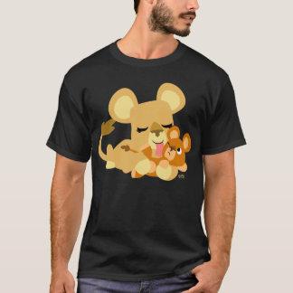 T-shirt de Bath de bande dessinée du lion mignon