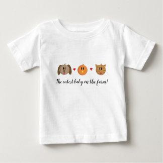 """T-shirt de bébé """"de chat de poussin de chien"""""""