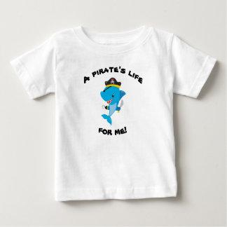 T-shirt de bébé de la vie de pirate de Sharky
