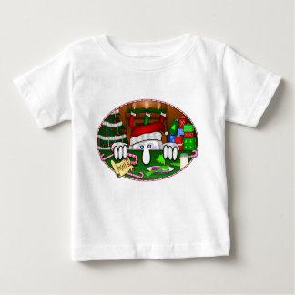 T-shirt de bébé de Père Noël Kilroy