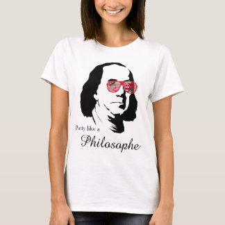 T-shirt de Ben Franklin Philosophe