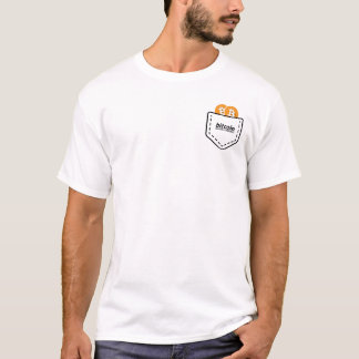 T-shirt de BITCOIN/POCKET-Men