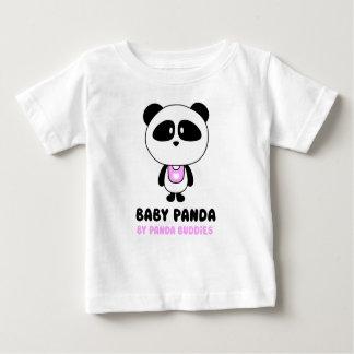 T-shirt de blanc d'amis de panda de bébé