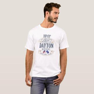 T-shirt de blanc d'anniversaire de Dayton,