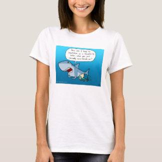 T-shirt de blanc de réputation de Shaaark