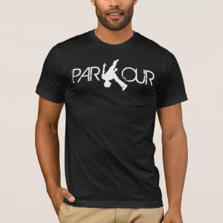 T-shirt de blanc de secousse de Parkour