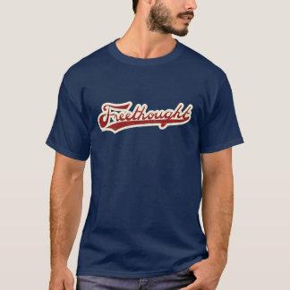 T-shirt de bleu marine de logo de base-ball de