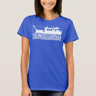 T-shirt de bleu marine des femmes saines de