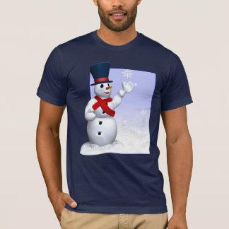 T-shirt de bonhomme de neige de flocon de neige