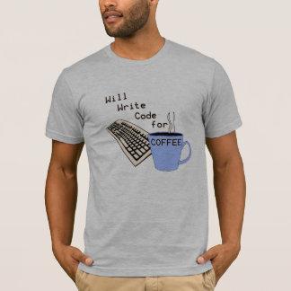 T-shirt de café d'informaticien d'amusement