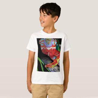 T-shirt de caméléon d'enfants