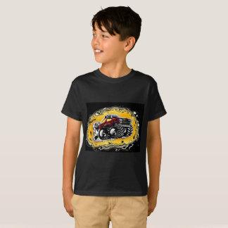 T-shirt de camion de monstre pour des garçons