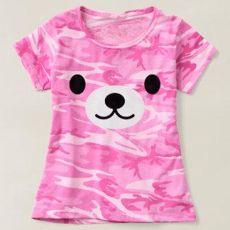 T-shirt de camouflage de rose d'ours de nounours