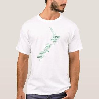 T-shirt de carte de chanson de NZ