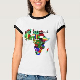 T-SHIRT DE CARTE DE L'AFRIQUE (FEMELLE)