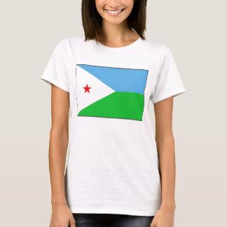 T-shirt de carte du drapeau X de Djibouti
