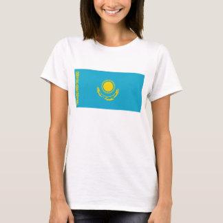 T-shirt de carte du drapeau X de Kazakhstan