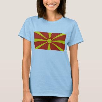 T-shirt de carte du drapeau X de Macédoine