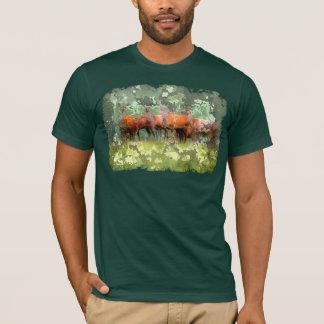 T-shirt de cerfs communs de forêt