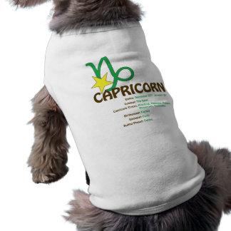 T-shirt de chien de traits de Capricorne