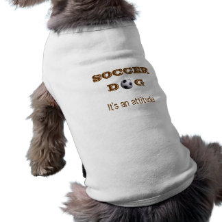 T-shirt de chien du football
