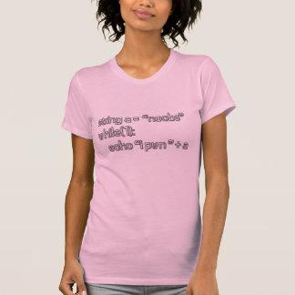 T-shirt de code d'I Pwn Noobs des femmes