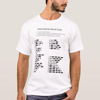 T-shirt de code Morse international