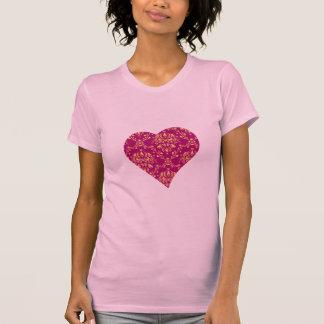 T-shirt de coeur de canneberge de conception de