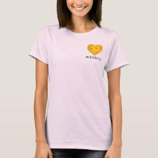T-shirt de coeur de Pickleball d'amour