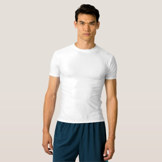 T-shirt performance compression, Blanc