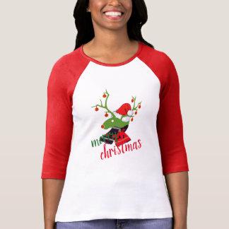 T-shirt de conception de renne de décoration de