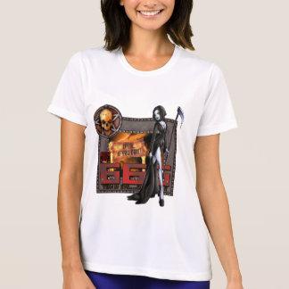 T-shirt de concurrent de Tek de sport de 666 dames