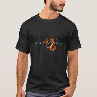 T-shirt de corail d'obscurité de l'espace