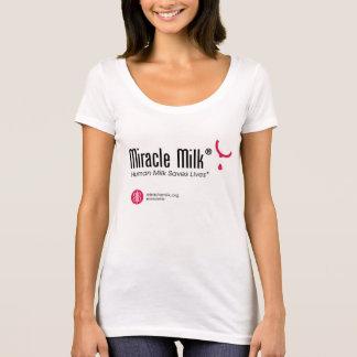 T-shirt de cou de scoop de Milk® de miracle