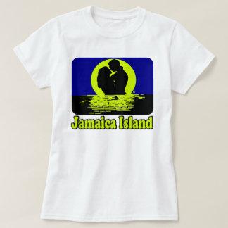 T-shirt de coucher du soleil d'île de la Jamaïque