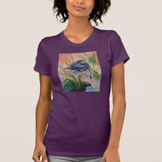 T-shirt de cour de héron