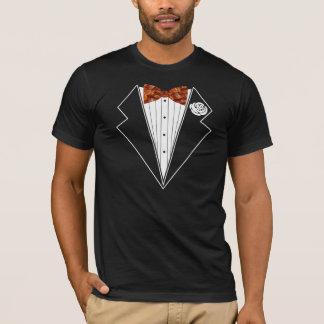 T-shirt de cravate d'arc de smoking de lard