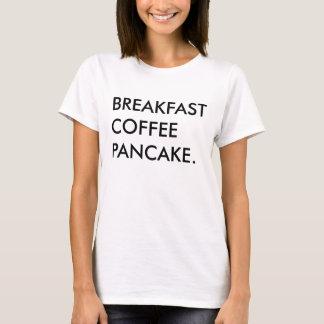 T-shirt de crêpe de café de petit déjeuner, pièce