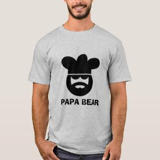 T-shirt de cuisinier de chef d'ours de papa pour