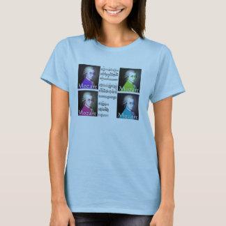 T-shirt de dames d'art de bruit de mozart