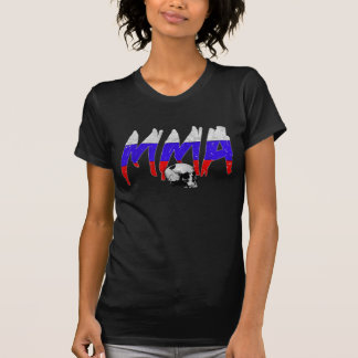 T-shirt de dames de crâne de MIXED MARTIAL ART de