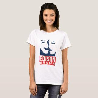 T-shirt de dames de drame d'Edison
