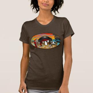 T-shirt de dames de Kilroy de pirate