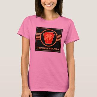 T-shirt de dames de logo de chemin de fer de la