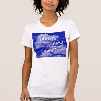 T-shirt de dames de ministère de châle de prière