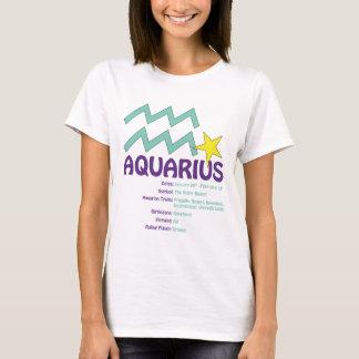 T-shirt de dames de traits de Verseau